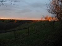 Sunset at Shady Grove Farm