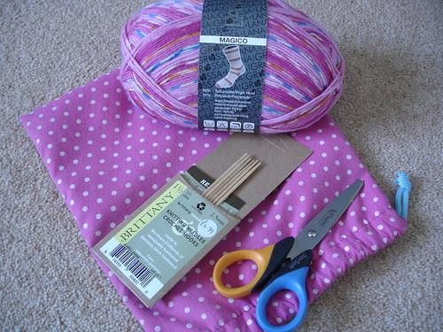 pink (in)sanity socks WIP