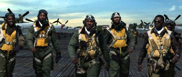 The Tuskegee Airmen in RED TAILS.