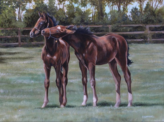 Foal play, Acrylic painting by Stephanie Greaves | Artfinder