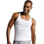 Hanes 372AP6 Men's TAGLESS ComfortSoft White A-Shirt 6-Pack - White