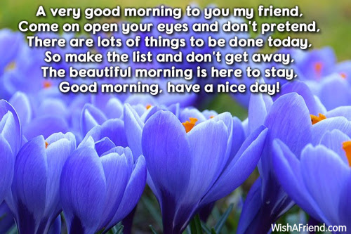 Good Morning Message A Very Good Morning To You