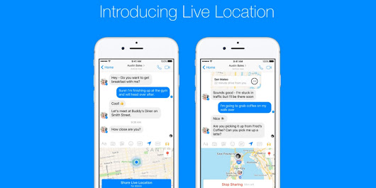 "Facebook Messenger now lets you prove you're ""OMW!"" in real-time"