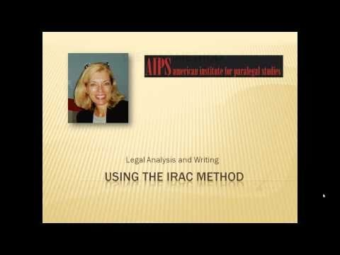 using the irac method eric How to raise your law school exam grade a full grade by using the irac method the right way: so many students use - and misuse - the irac method in this.