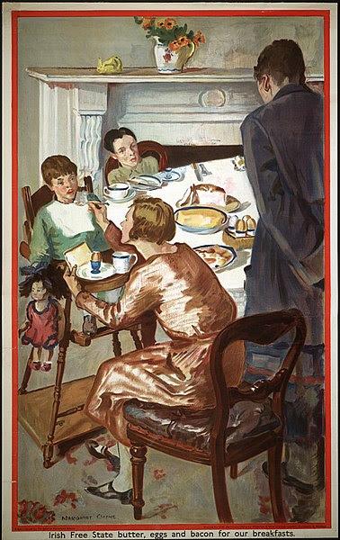 File:Irish Free State Butter, Eggs and Bacon for our Breakfasts Du beurre, des œufs et du bacon de l'État libre d'Irlande au déjeuner.jpg
