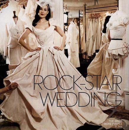 Dita Von Teese in Vivienne Westwood bridal gown   Robes de