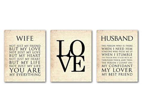 Wife Husband Typography   LOVE print trio   Anniversary