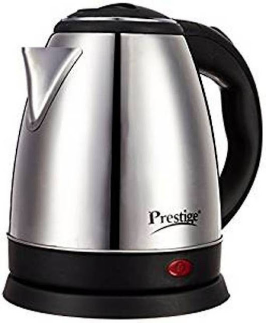 Prestige Pkoss Electric Kettle (1.5 L, Black/Silver) Online Shopping - ShopperMb India
