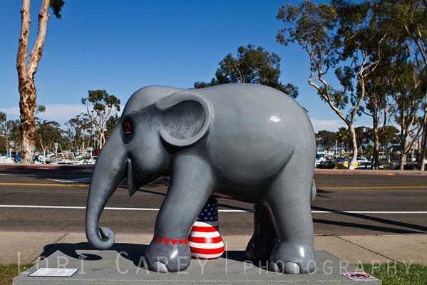 Elephant Parade: Welcome to America We Love Mosha | USA by Thiti Suwan, Dana Point, California, USA. Elephant Parade is an open air art exhibition designed to raise public awareness and support for the cause of elephant conservation. Making their first US appearance thirty life-sized baby elephants will be on display throughout Dana Point from August 23 through November 7 2013.