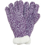 ClimaZer0 Soft Winter Gloves with Sherpa Lining - Purple One Size