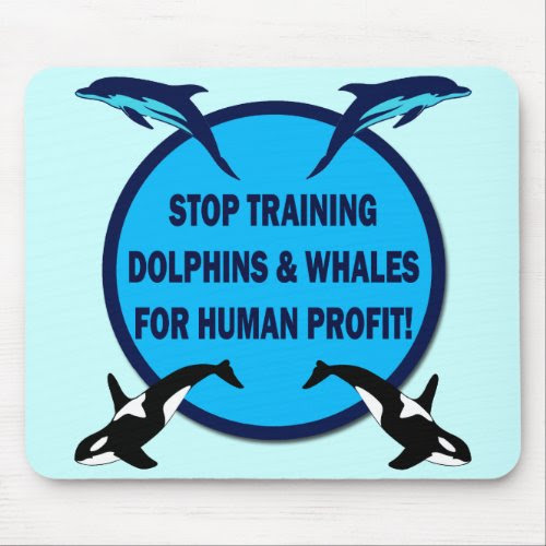 STOP TRAINING DOLPHINS & WHALES mousepad