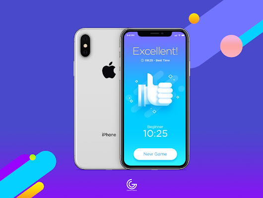 Free Silver iPhone X Mockup For Screens Presentation 2018 - Graphic Google - Tasty Graphic Designs Collection