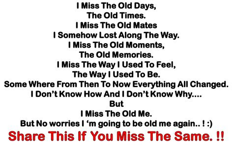 Miss Our Old Days Quotes