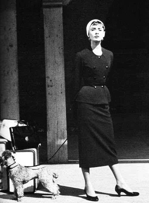 inritus:  Audrey Hepburn on the set of 'Sabrina' photographed by Sid Avery, 1954.
