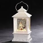 Roman led musical glitter with water snowman lantern