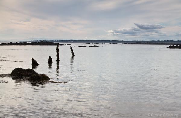 glistening smooth ocean water, Kittery, Maine