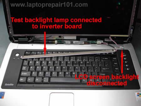 Sambungan lampu backlight yang baik