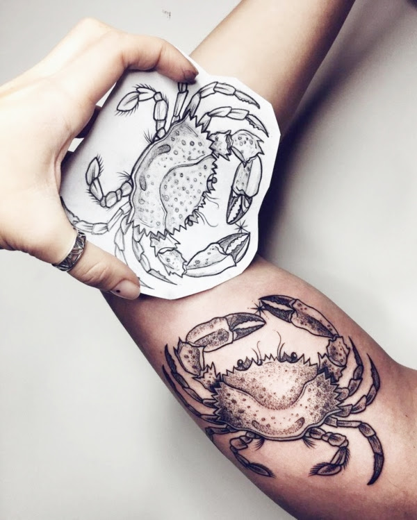 27 Cancer Zodiac Tattoo Designs With Actual Meaning