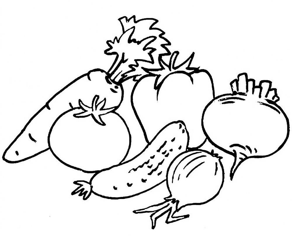 Gambar Lukisan Sayur Sayuran