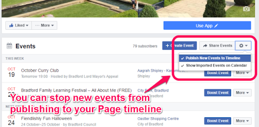 How we are using Facebook events at Bradford Council