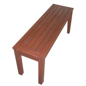 Shop Wooden Cocoa Long Bench at Lowes.