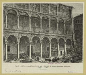 Loge du palais Piccolomini, à ... Digital ID: 835836. New York Public Library