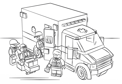 Ausmalbilder Lego City Calendar June