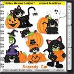Scaredy Cat Layered Templates - CU
