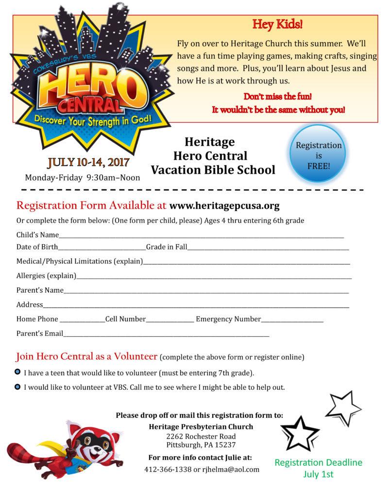 Heritage VBS Flyer 2017 801x1024