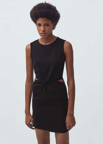 Side slit dress | MANGO
