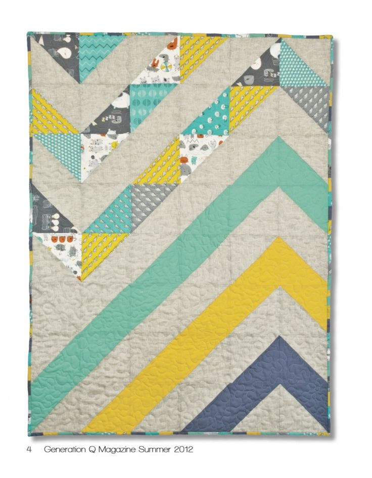 big chunky chevron stripe quilt design (baby quilt tutorial)