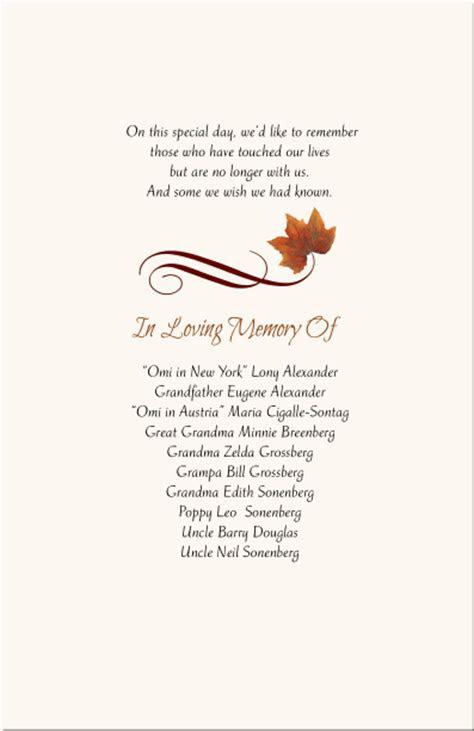 autumn wedding program fall leaves jewish wedding program