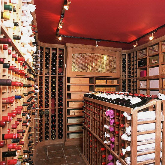 Red wine cellar utility room | Storage ideas | Basement | Image | Housetohome