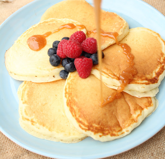 Buttermilk Pancakes - Eat, Think & Be Merry
