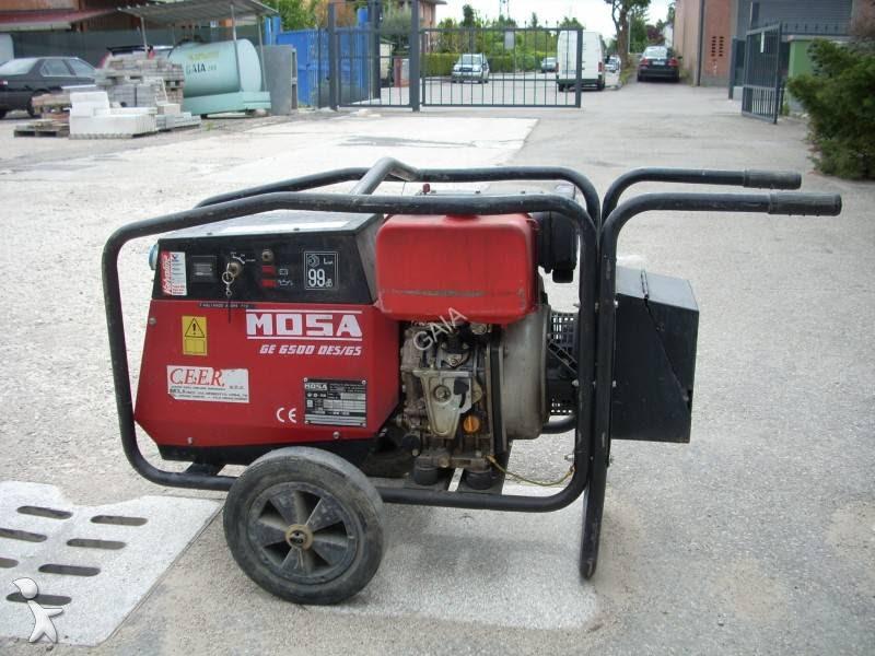 Miniescavatore gruppo elettrogeno mosa usato for Generatore di corrente honda usato