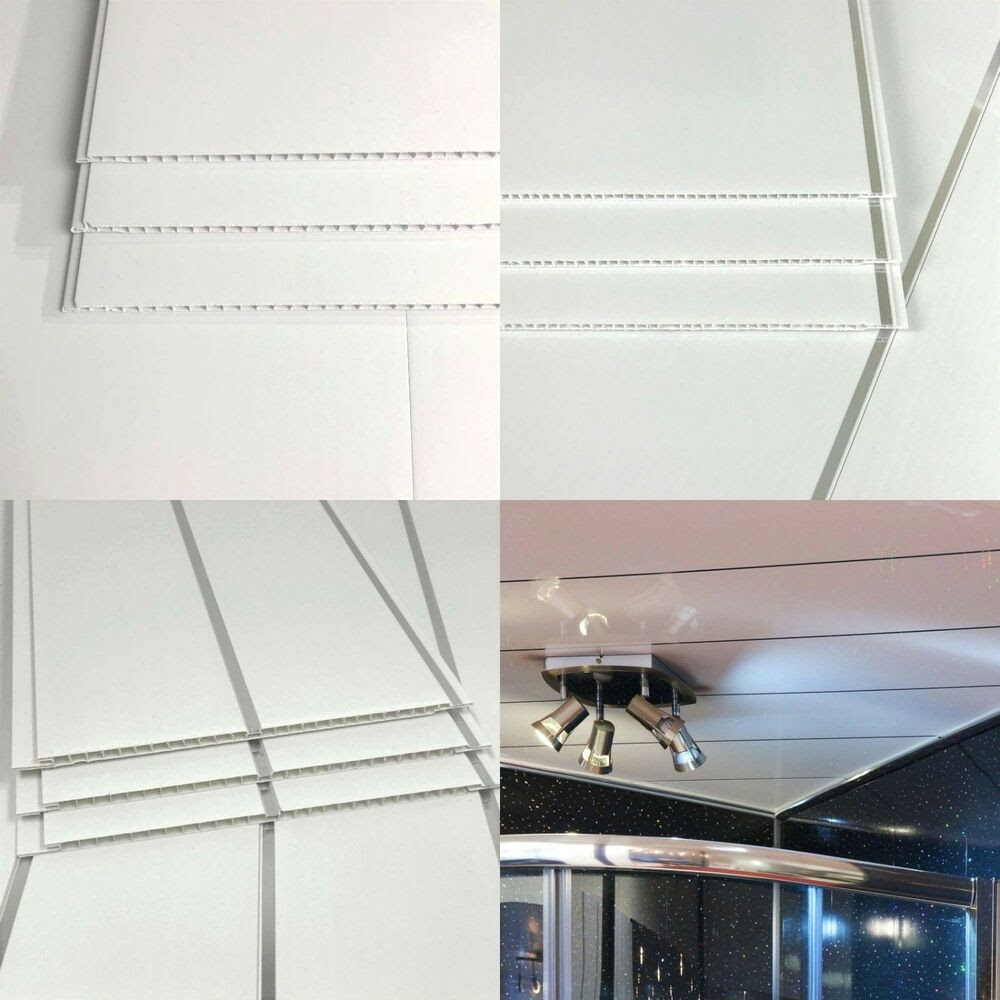 Gloss White Or White Chrome Pvc Plastic Ceiling Wall ...