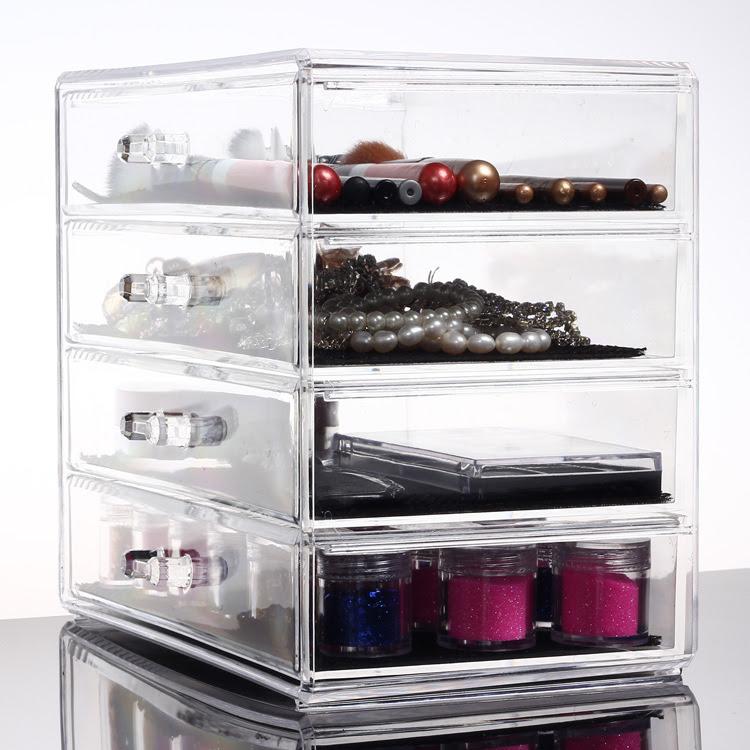 Plastic makeup organizer ikea