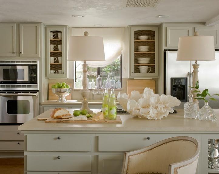Cream Kitchen Cabinets - Cottage - kitchen - Giannetti Home