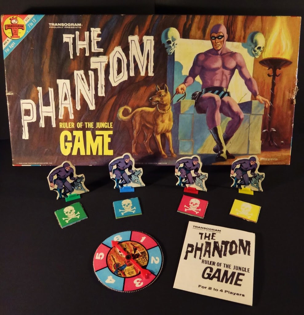 The Phantom Ruler of the Jungle board game Transogram 1966