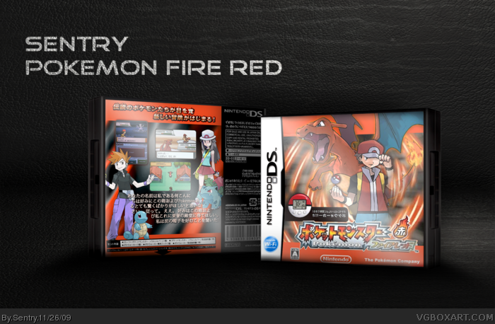 Pokemon Fire Red Version Nintendo DS Box Art Cover by Sentry