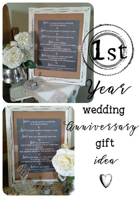 DIY Wedding Anniversary Gift Idea