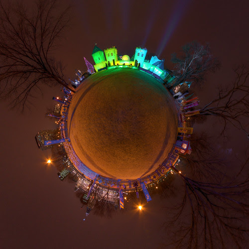 The Quebec Winter Carnival - Bonhommes Castle - Stereographic Projection