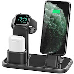 Beacoo Upgraded 3 in 1 Charging Stand for iWatch Series 5/4/3/2/1, Charging Station Dock Compatible with Airpods Pro/1/2 iPhone 11/pro/max/Xs/X Max/XR