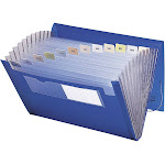 Smead Poly - Expanding file - 12 compartments - Letter - tabbed - blue (pack of 12)