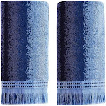 Saturday Knight Eckhart Stripe 2 Piece Hand Towel Set - Blue