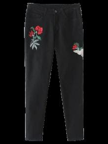 Embroidered Tapered Jeans