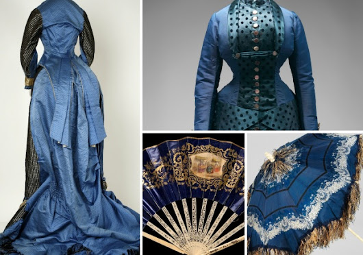 Shades of Victorian Fashion: Cerulean, Mazarine, Navy, and Blue