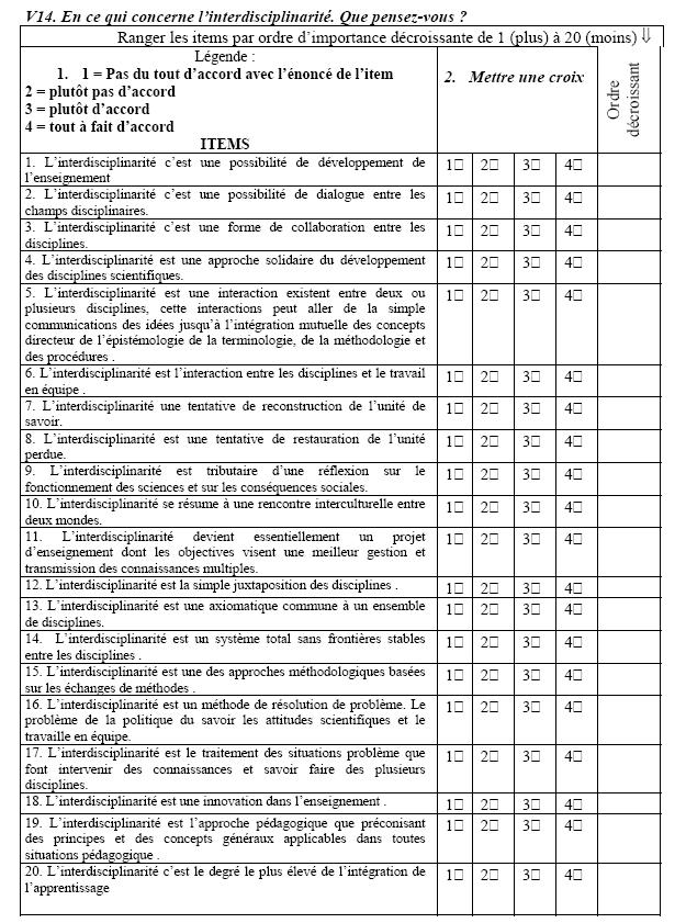 Exemple Questionnaire These - Titre De La Thèse