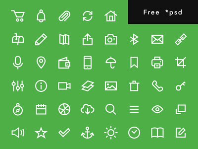 Free Line icons set - w3iscool
