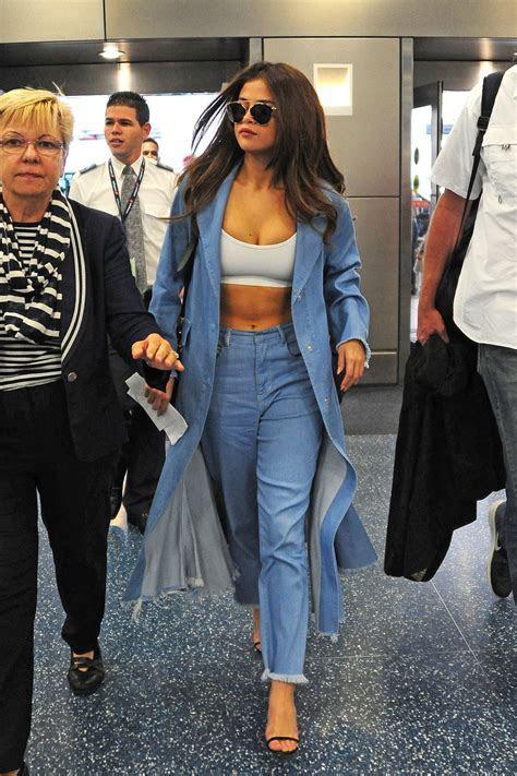 Selena Gomez Style   at Miami International Airport, 4/9/2016